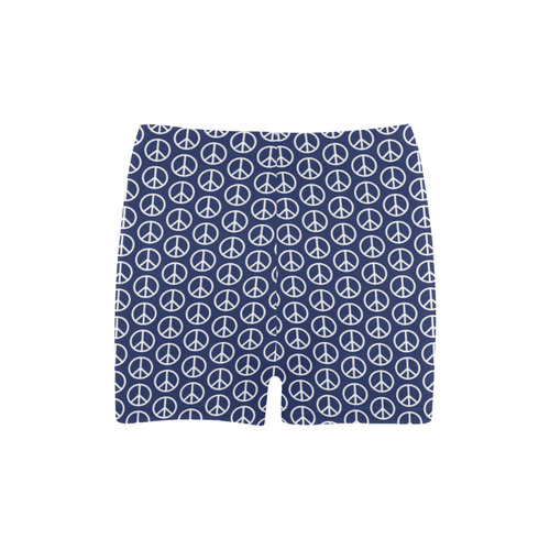 Peace Symbol Blue (2) Briseis Skinny Shorts (Model L04)
