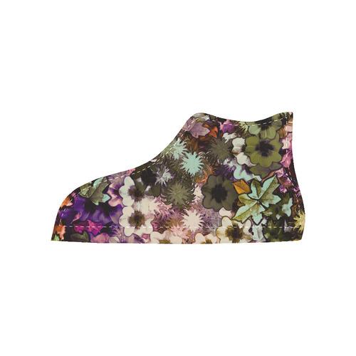 My Secret Garden #3 Night - Jera Nour High Top Canvas Women's Shoes/Large Size (Model 002)