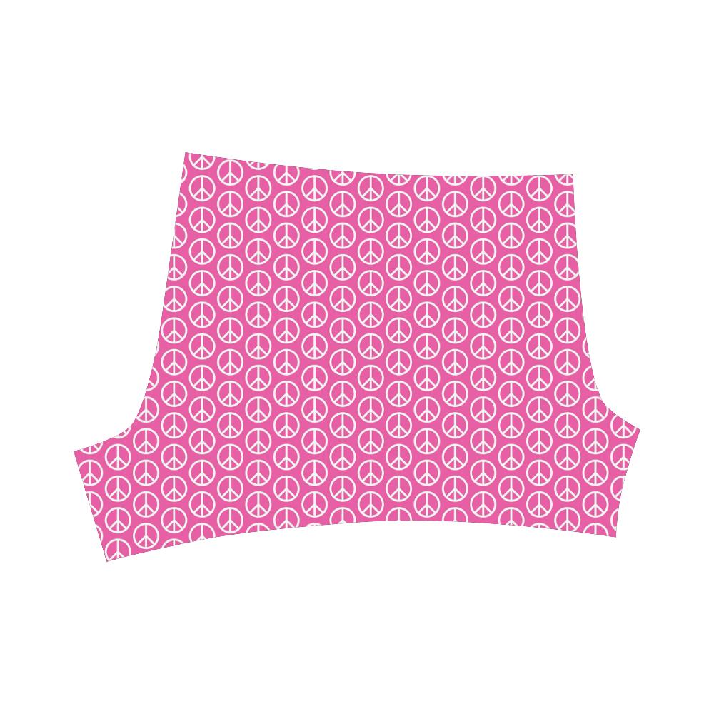 Peace Symbol Pink (1) Briseis Skinny Shorts (Model L04)