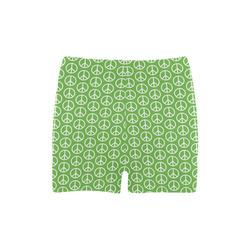 Peace Symbol Green (2) Briseis Skinny Shorts (Model L04)