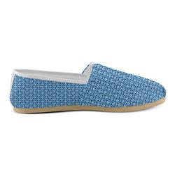 Peace Symbol Blue (3) Unisex Casual Shoes (Model 004)