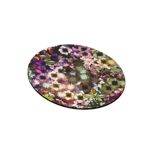 My Secret Garden #3 Night - Jera Nour Round Mousepad