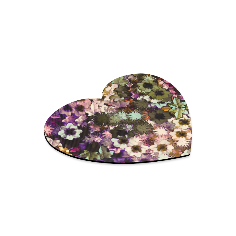 My Secret Garden #3 Night - Jera Nour Heart-shaped Mousepad