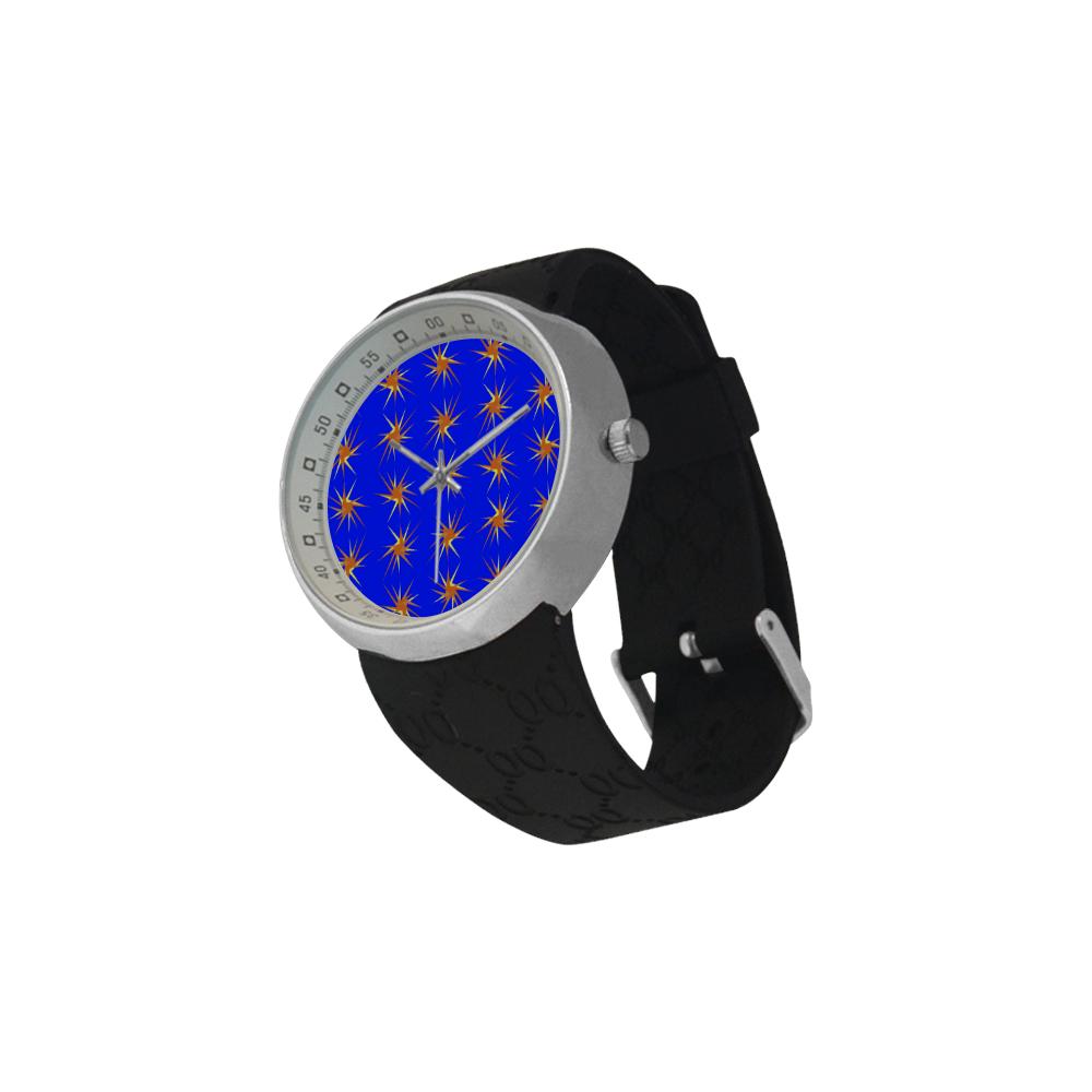 BLUE SPARKLES Men's Resin Strap Watch(Model 307)