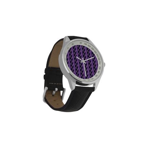 Lightning strikes Men's Leather Strap Analog Watch(Model 209)