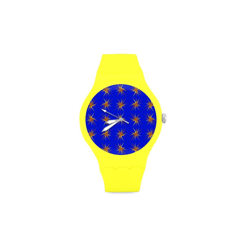 BLUE SPARKLES Unisex Round Rubber Sport Watch(Model 314)