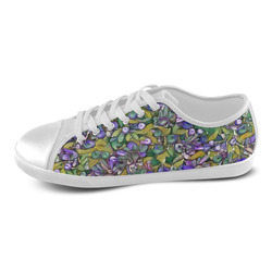 lovely floral 31C Women's Canvas Shoes (Model 016)
