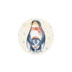 cute penguin, christmas Round Coaster