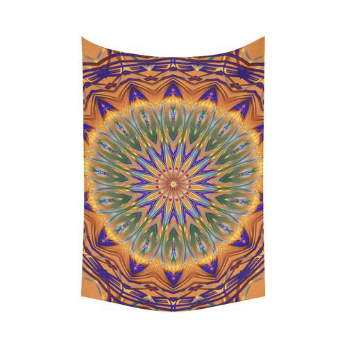 "Sentinel Mandala Cotton Linen Wall Tapestry 60""x 90"""