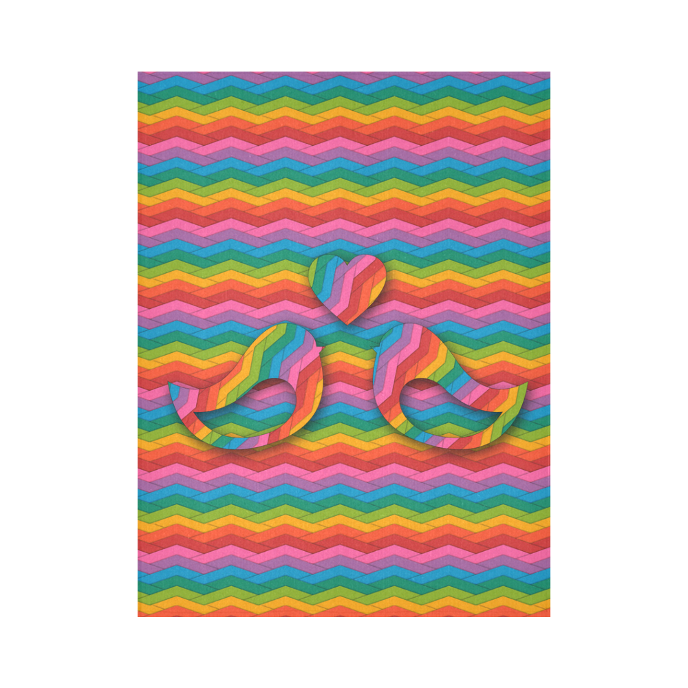 """In Love Cotton Linen Wall Tapestry 60""""x 80"""""""