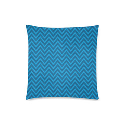 "Blue Chevron - Hanukkah (2) Custom Zippered Pillow Case 18""x18""(Twin Sides)"