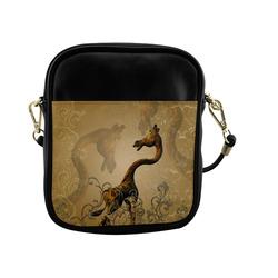 Little frightened giraffe Sling Bag (Model 1627)