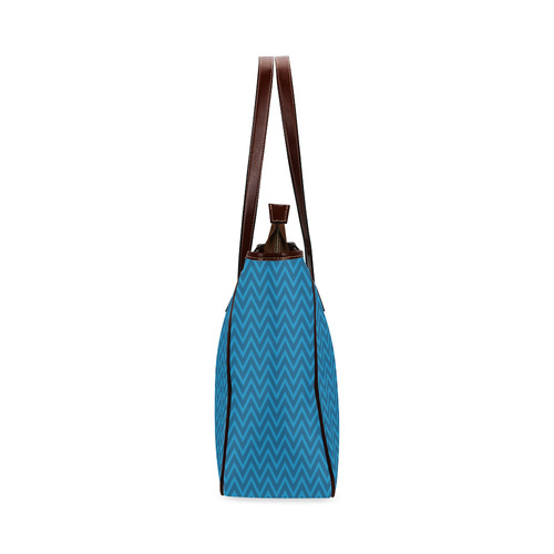 Blue Chevron - Hanukkah (2) Classic Tote Bag (Model 1644)