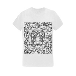 skull 1116 Women's T-Shirt in USA Size (Two Sides Printing)
