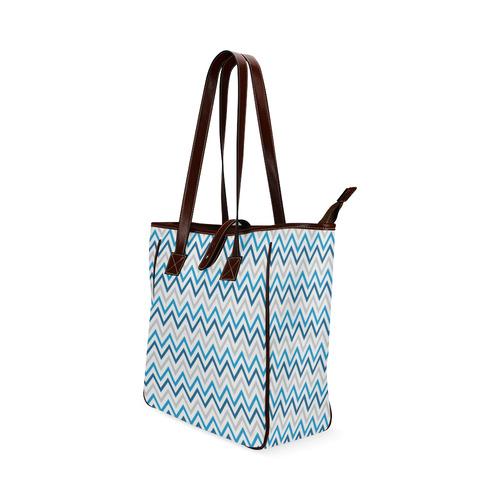 Blue Chevron - Hanukkah (1) Classic Tote Bag (Model 1644)