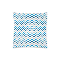 "Blue Chevron - Hanukkah (1) Custom Zippered Pillow Case 18""x18""(Twin Sides)"