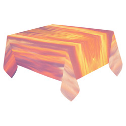 """Fire in the sky Cotton Linen Tablecloth 52""""x 70"""""""