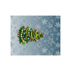 "Christmas Tree, snowflakes Poster 20""x16"""