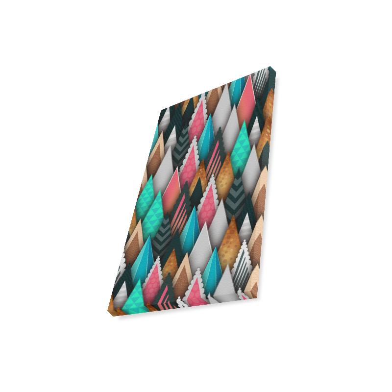 "Crazy Abstract Design Canvas Print 12""x18"""
