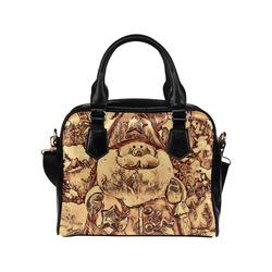 wooden little santa by JamColors Shoulder Handbag (Model 1634)
