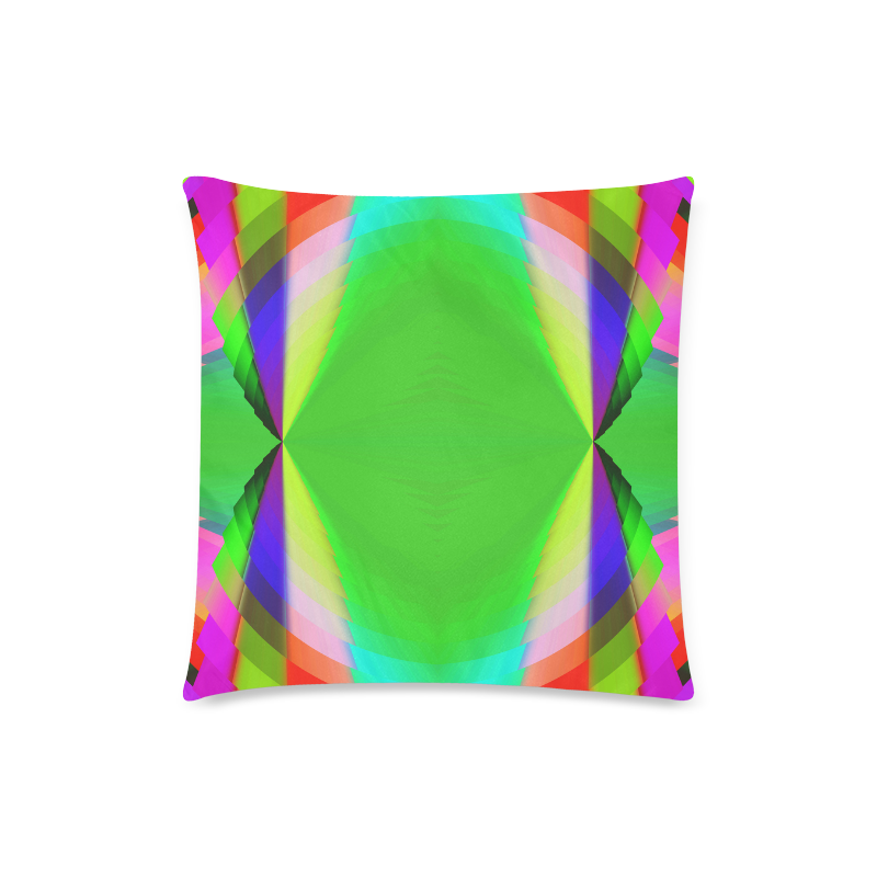 """Multicolor Shimmering Fractal Design Custom Zippered Pillow Case 18""""x18""""(Twin Sides)"""