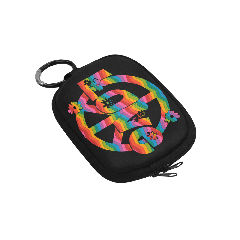 Colorful Love and Peace Coin Purse (Model 1605)