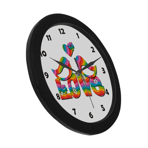 Love Birds with a Heart Circular Plastic Wall clock