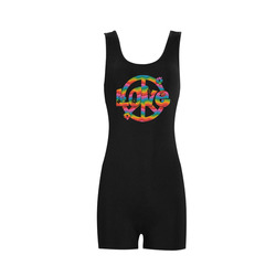 Colorful Love and Peace Classic One Piece Swimwear (Model S03)