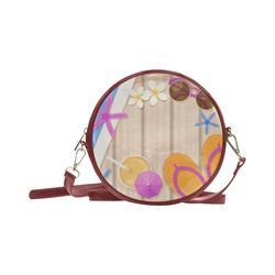Summer Fun Background Round Sling Bag (Model 1647)