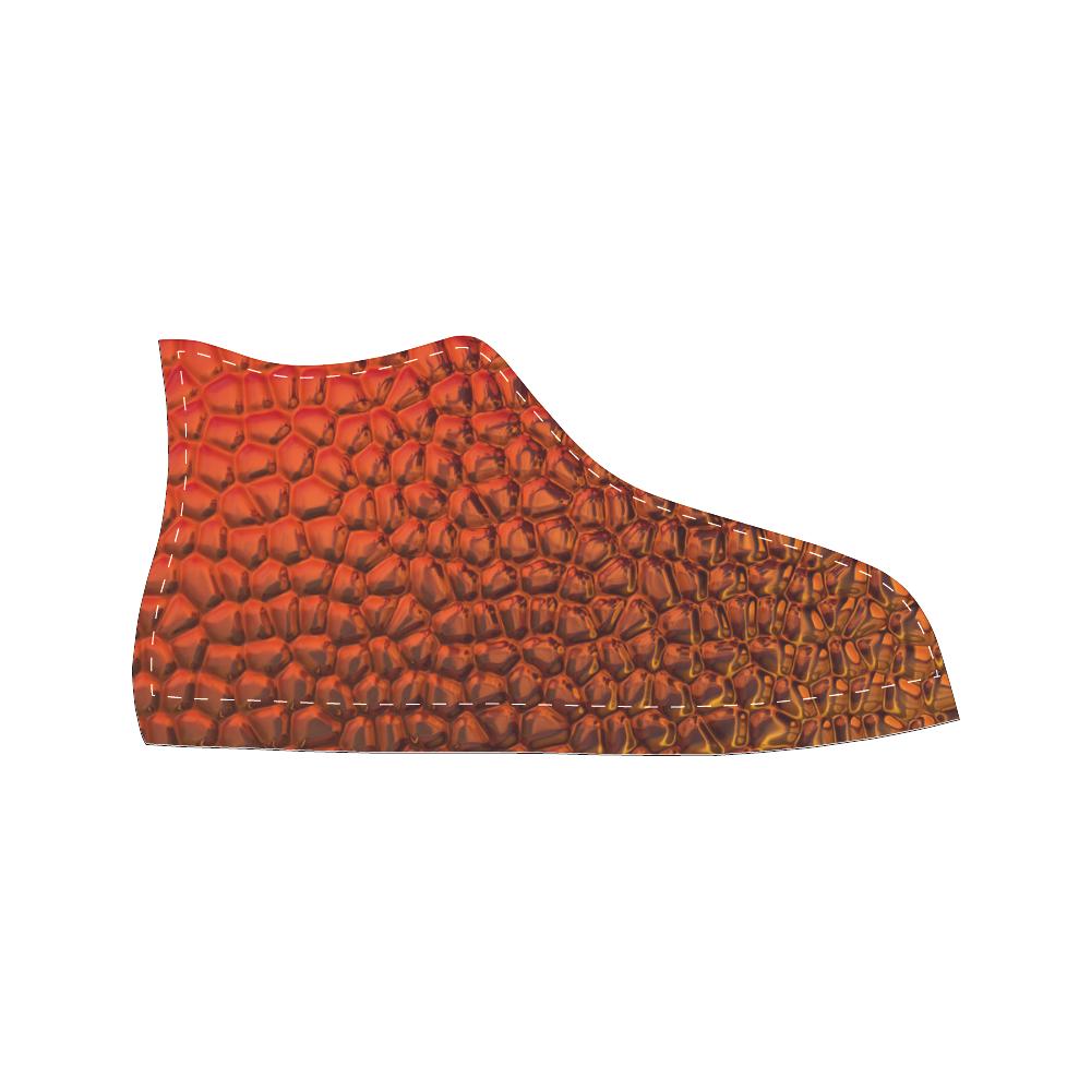 Solder Snake SKin - Jera Nour Men's Classic High Top Canvas Shoes /Large Size (Model 017)