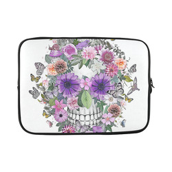 flower skull pink, orange,violett Custom Laptop Sleeve 15''