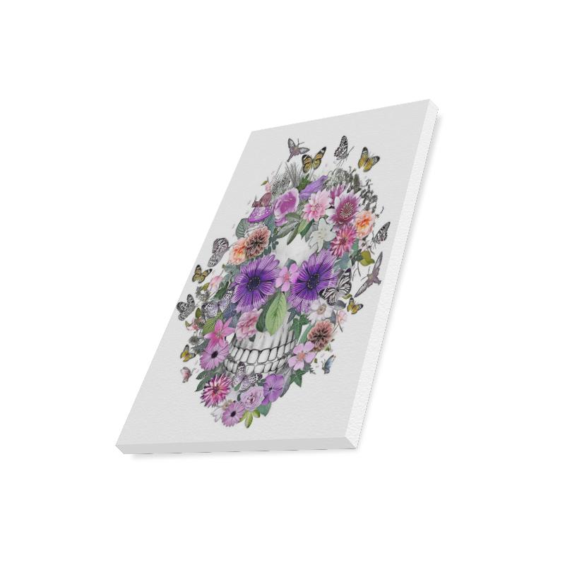 """flower skull pink, orange,violett Canvas Print 16""""x20"""""""