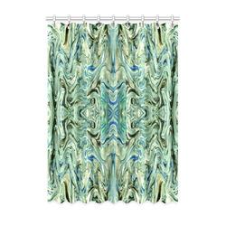 "Beautiful Marbling Art Folklore Window Curtain 52"" x 72""(One Piece)"