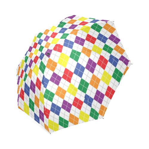 Rainbow Argyle Foldable Umbrella (Model U01)