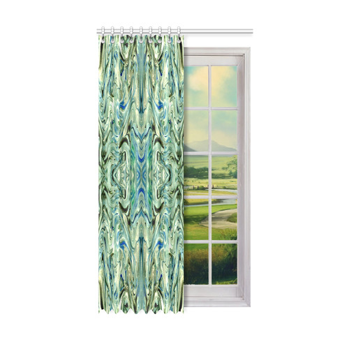 "Beautiful Marbling Art Folklore Window Curtain 52"" x96""(One Piece)"