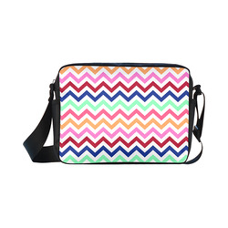 Multicolor CHEVRONS Pattern Pink Turquoise Coral Blue Red Classic Cross-body Nylon Bags (Model 1632)