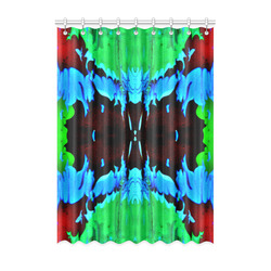 """Abstract Green Brown, Blue Red Marbling Window Curtain 52"""" x 72""""(One Piece)"""