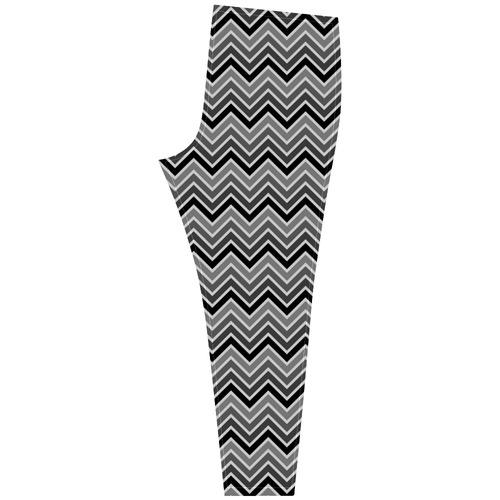 Chevron - Black and Gray Cassandra Women's Leggings (Model L01)