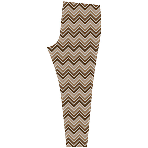 Chevron - Brown, tan Cassandra Women's Leggings (Model L01)