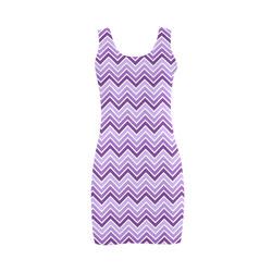 Chevron - Purple Medea Vest Dress (Model D06)