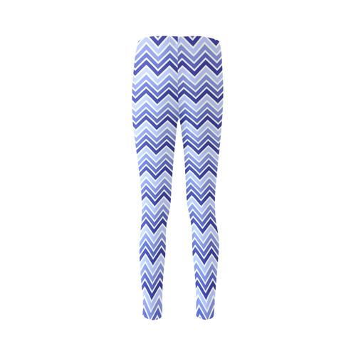Chevron - Blue Cassandra Women's Leggings (Model L01)