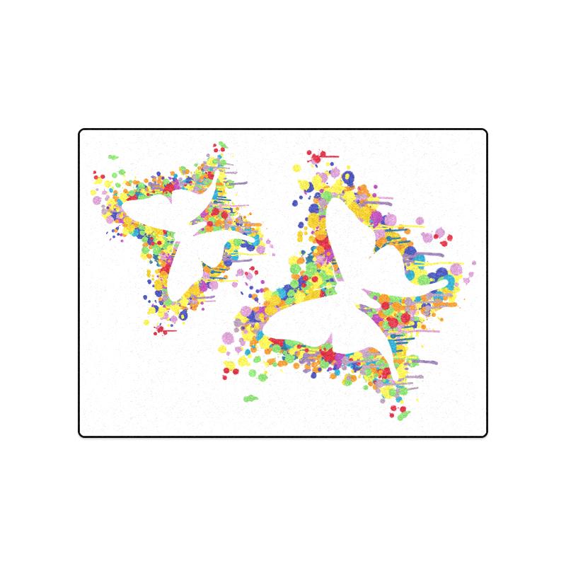 """Dancing Butterfly Splash Blanket 50""""x60"""""""