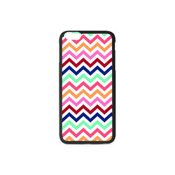 CHEVRONS Pattern Multicolor Pink Turquoise Coral Blue Red Rubber Case for iPhone 6/6s Plus
