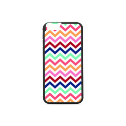 CHEVRONS Pattern Multicolor Pink Turquoise Coral Blue Red Rubber Case for iPhone 6/6s