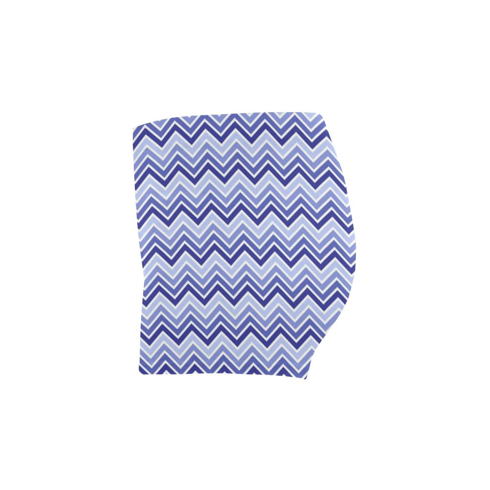 Chevron - Blue Briseis Skinny Shorts (Model L04)