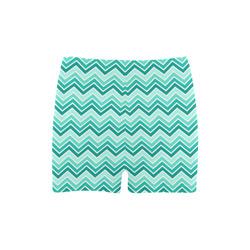 Chevron - Aqua Briseis Skinny Shorts (Model L04)