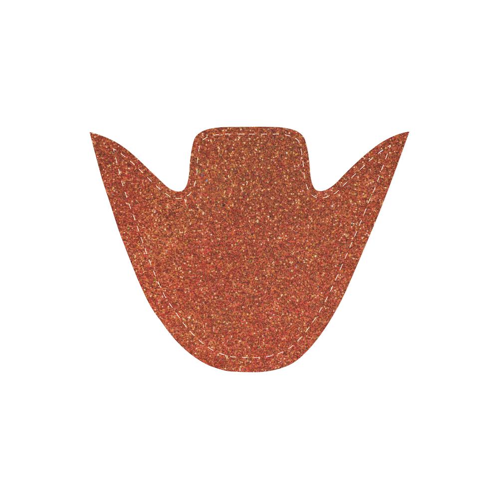 Sparkles Orange Glitter Women's Slip-on Canvas Shoes (Model 019)
