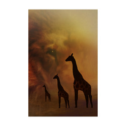 "Lion and Giraffes CB Poster 22""x34"""