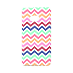 CHEVRONS Pattern Multicolor Pink Turquoise Coral Blue Red Hard Case for HTC ONE M7 3D