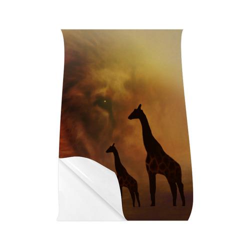 "Lion and Giraffes CB Poster 22""x34"""